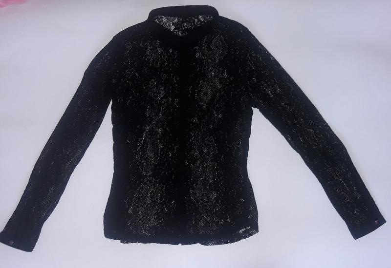 Гепюровая ажурная блузка р.м - Фото 3