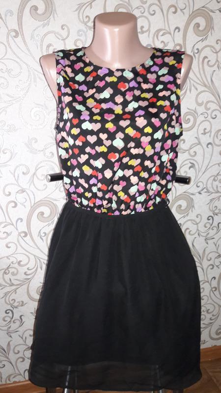 Яркое шифоновое платье м-л - Фото 2