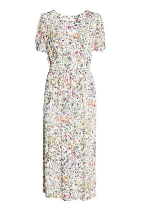 Платье с треугольным вырезом h&m размер 38 - Фото 2