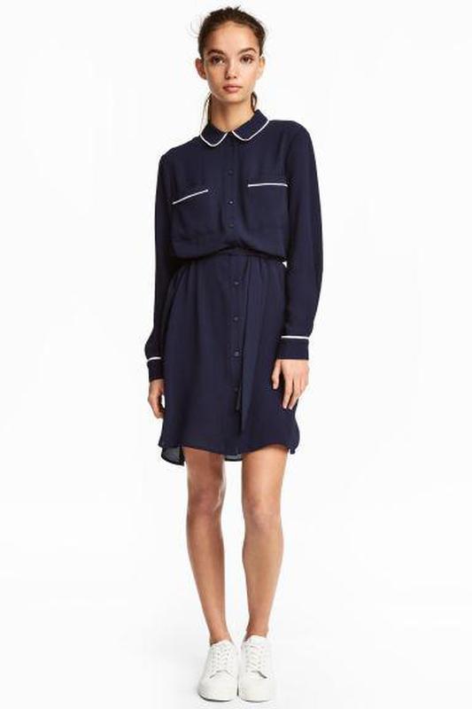 Платье-рубашка h&m размер 34