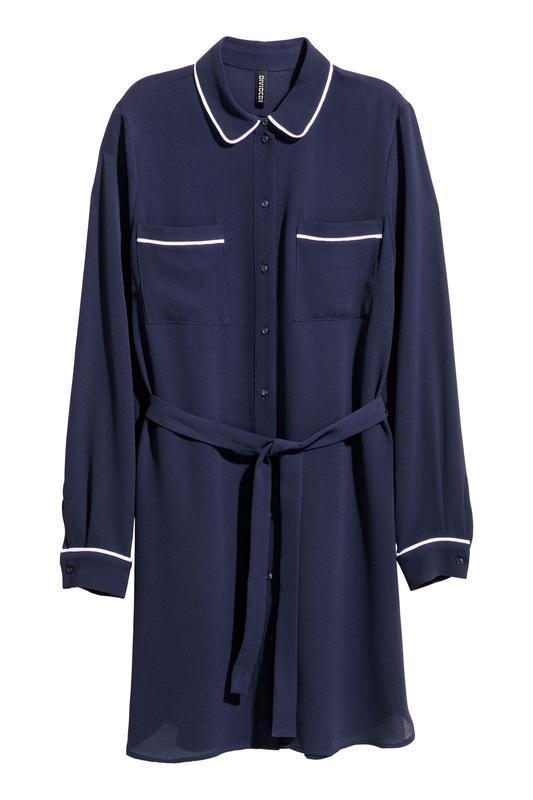 Платье-рубашка h&m размер 34 - Фото 2