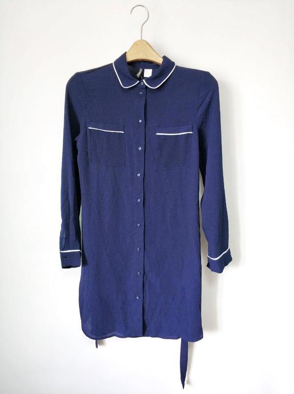 Платье-рубашка h&m размер 34 - Фото 4