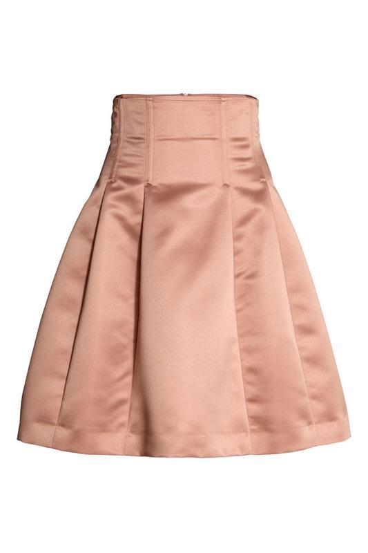 Атласная юбка клеш h&m - Фото 2