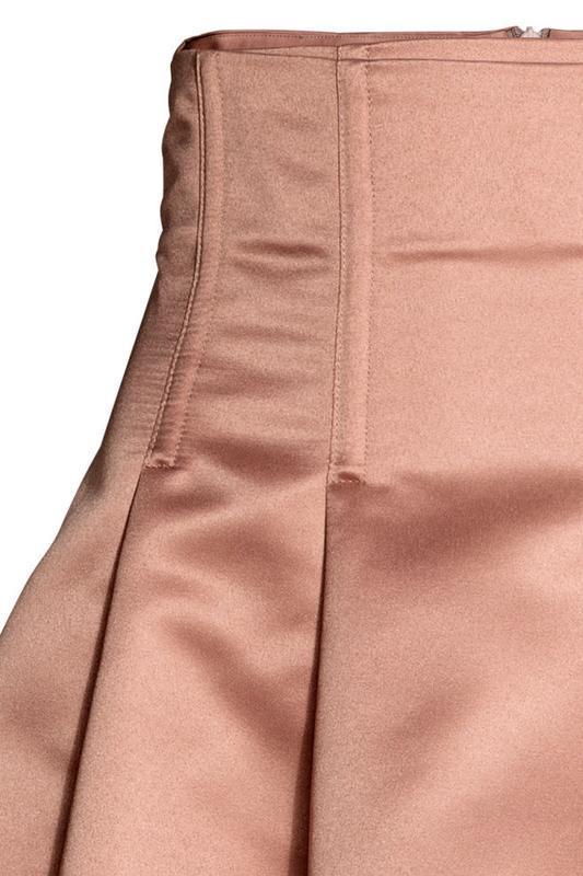 Атласная юбка клеш h&m - Фото 3