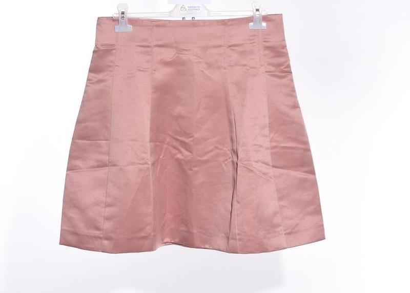 Атласная юбка клеш h&m - Фото 4