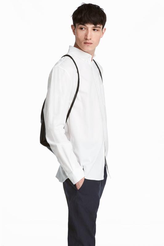 Рубашка regular fit h&m размер xl