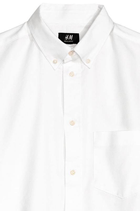 Рубашка regular fit h&m размер xl - Фото 3