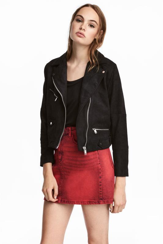 Куртка байкерская h&m