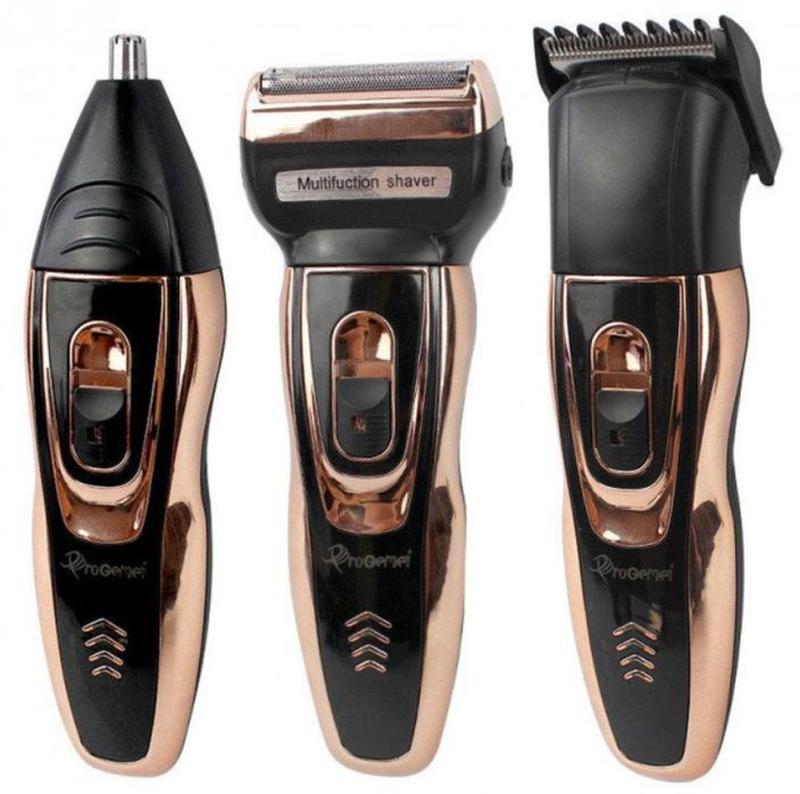 Мужской триммер бритва аккумуляторная для стрижки волос и бороды - Фото 2