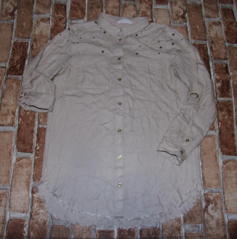 Стильное платье рубашка девочке 13 - 14 лет h&m