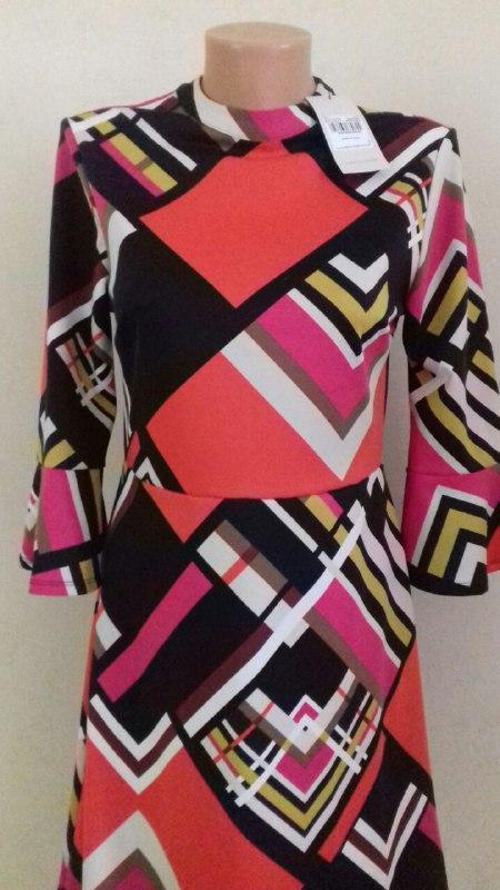 Новое платье в геометрический принт tu - Фото 2