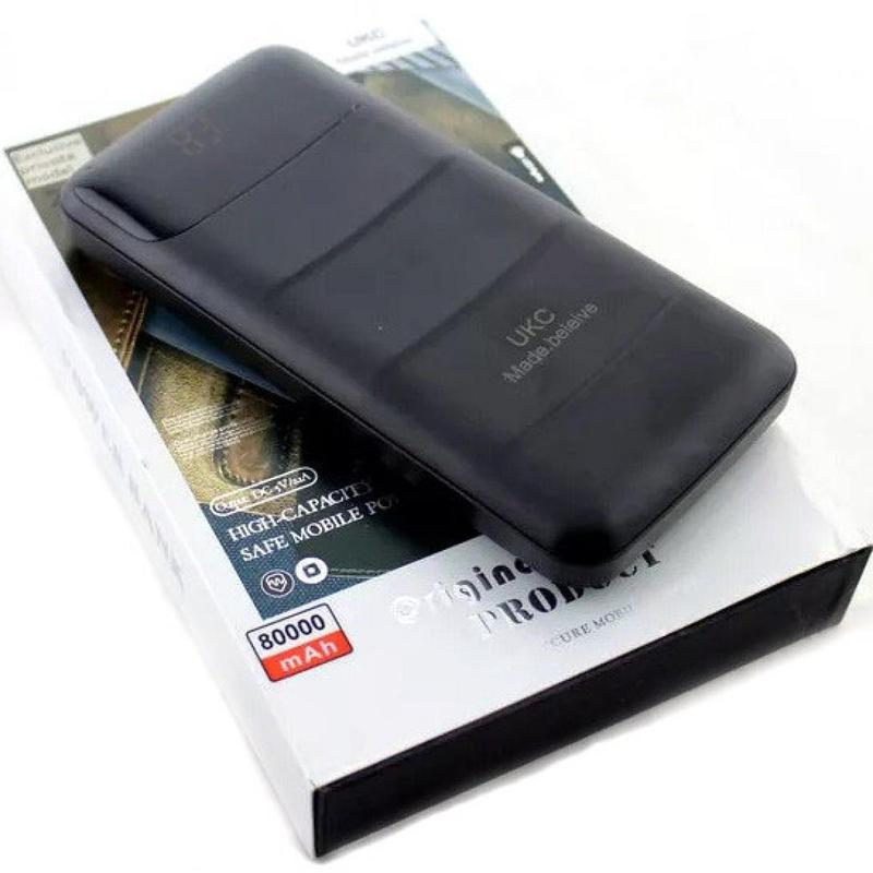 Power Bank UKC 80000mah + LCD дисплей + фонарик на 2 USB порта