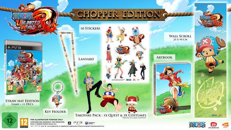 ONE PIECE Unlimited World RED Chopper Edition PS3 коллекционное - Фото 8