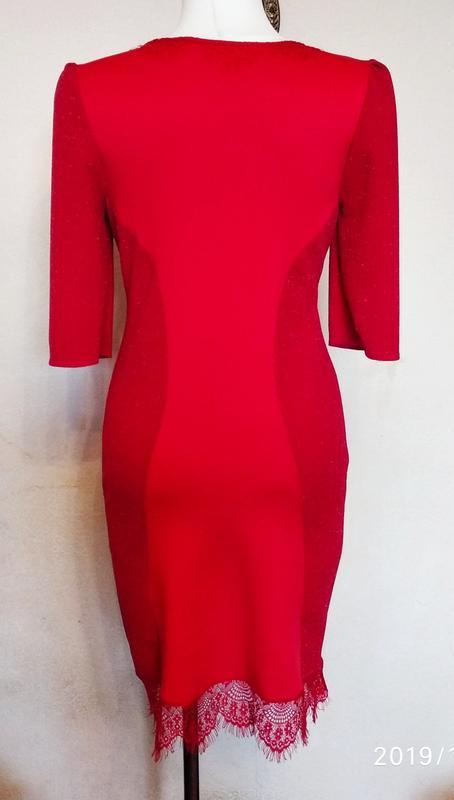 Платье нарядное красное. - Фото 2