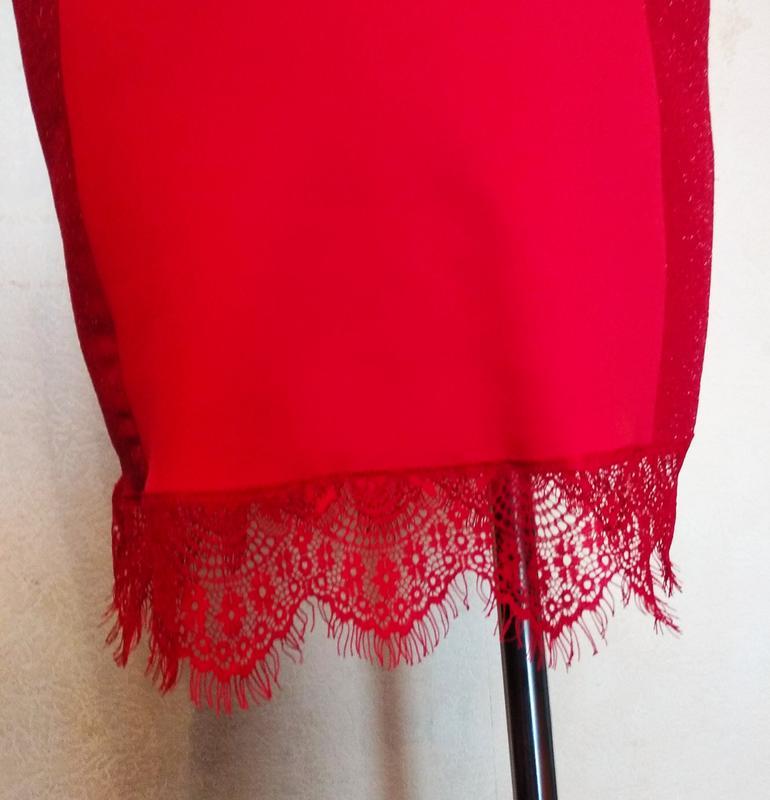 Платье нарядное красное. - Фото 4