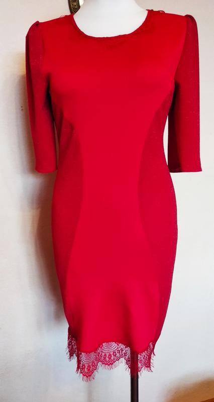Платье нарядное красное. - Фото 5
