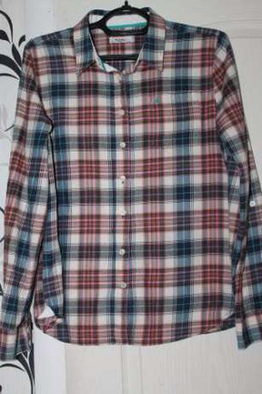 Рубашка colins клеточка 46р.