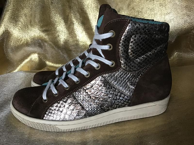 Ботинки кожаные durea 37.5р(4.5)