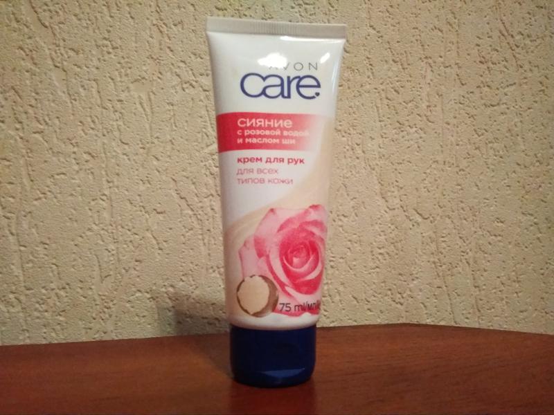 """Крем для рук с розовой водой и маслом ши avon care  """"сияние"""" 7..."""