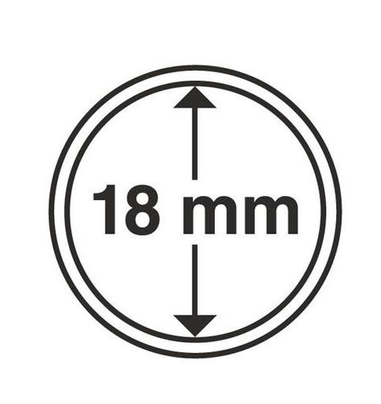 Капсулы для монет 18mm с рантой 100шт MM-Schulz Польша