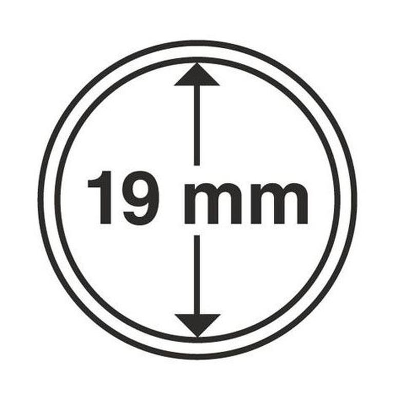 Капсулы для монет 19mm с рантой 10шт MM-Schulz Польша