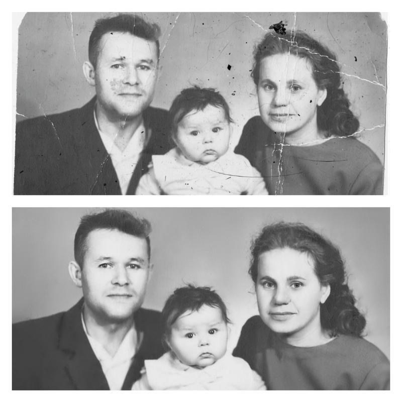 Реставрация старых фото любой сложности