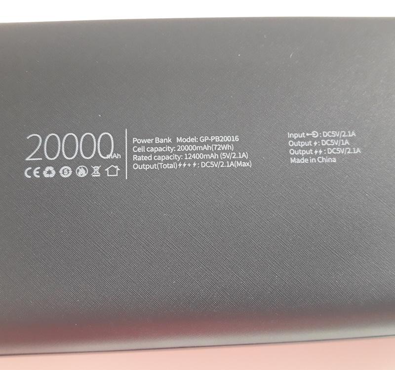 Дополнительная батарея Gelius Power Bank Портативна  20000mAh - Фото 5