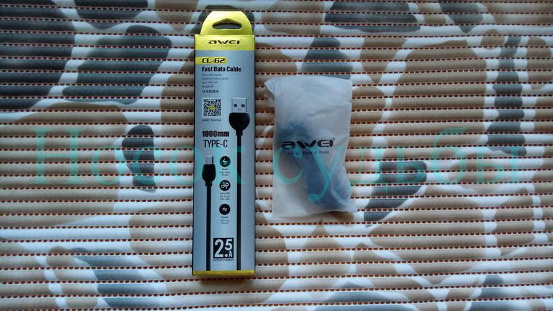 Качественный Кабель для зарядки Телефона USB - USB Type-C, AWEI C