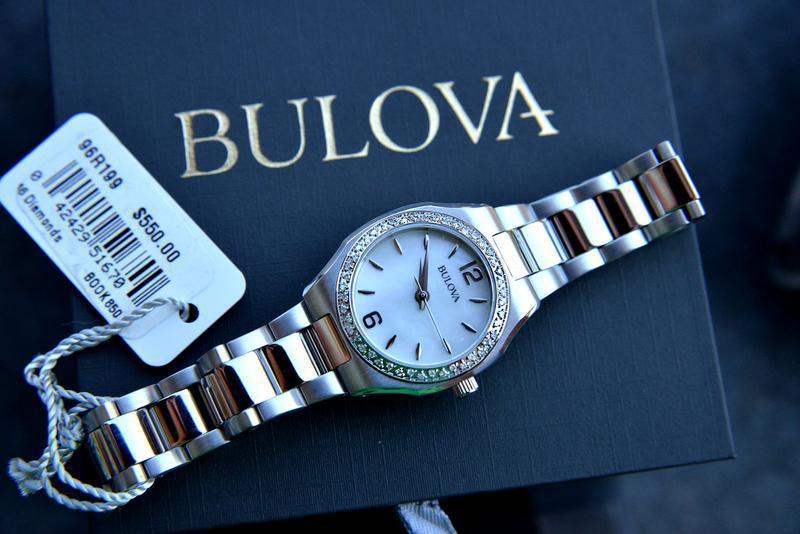 Женские часы с бриллиантами 46шт bulova подарок девушке - Фото 4