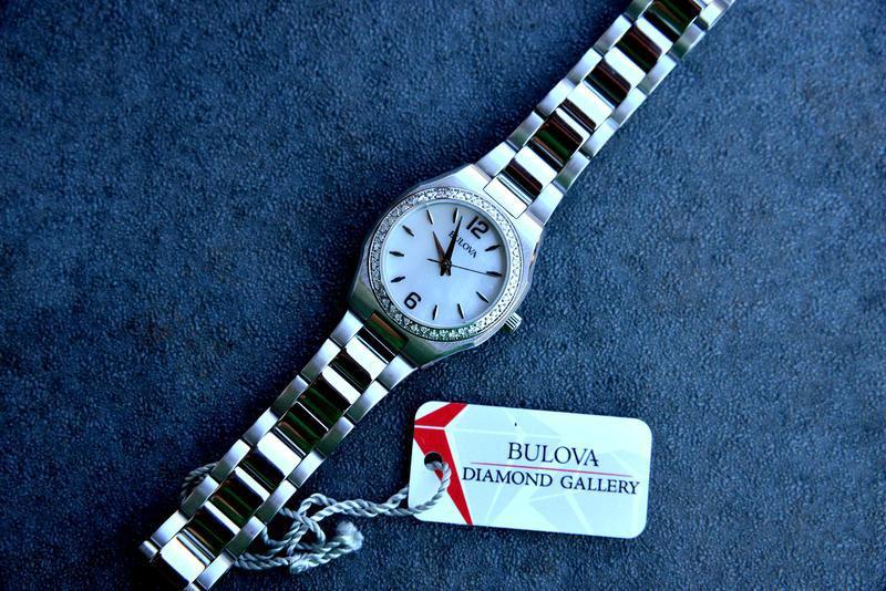 Женские часы с бриллиантами 46шт bulova подарок девушке - Фото 5