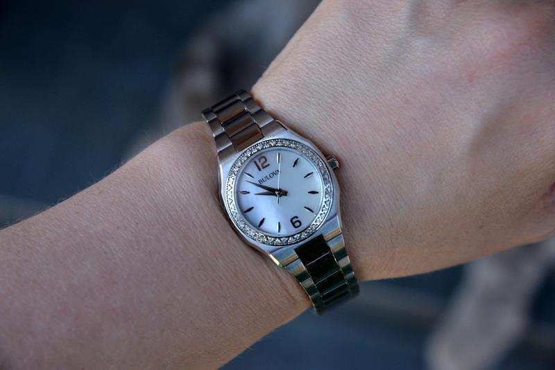 Женские часы с бриллиантами 46шт bulova подарок девушке - Фото 7