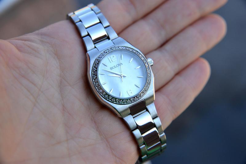 Женские часы с бриллиантами 46шт bulova подарок девушке - Фото 8