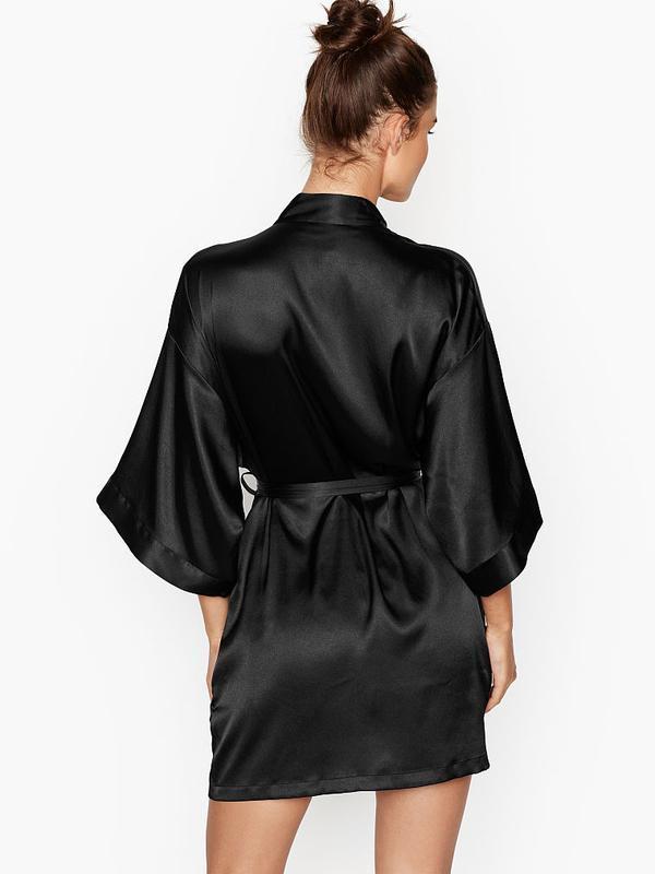 Шелковистый халат кимоно xs/s victoria's secret - Фото 2