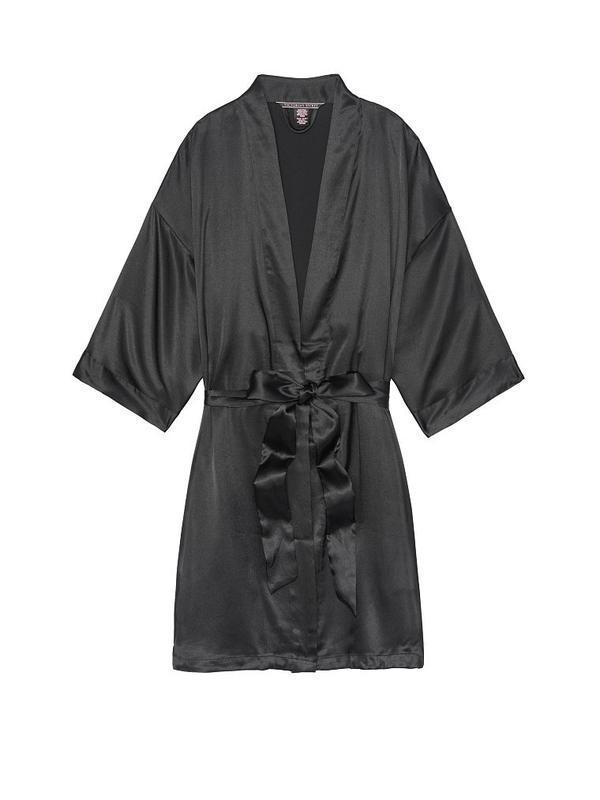 Шелковистый халат кимоно xs/s victoria's secret - Фото 3