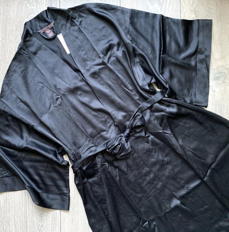 Шелковистый халат кимоно xs/s victoria's secret - Фото 4