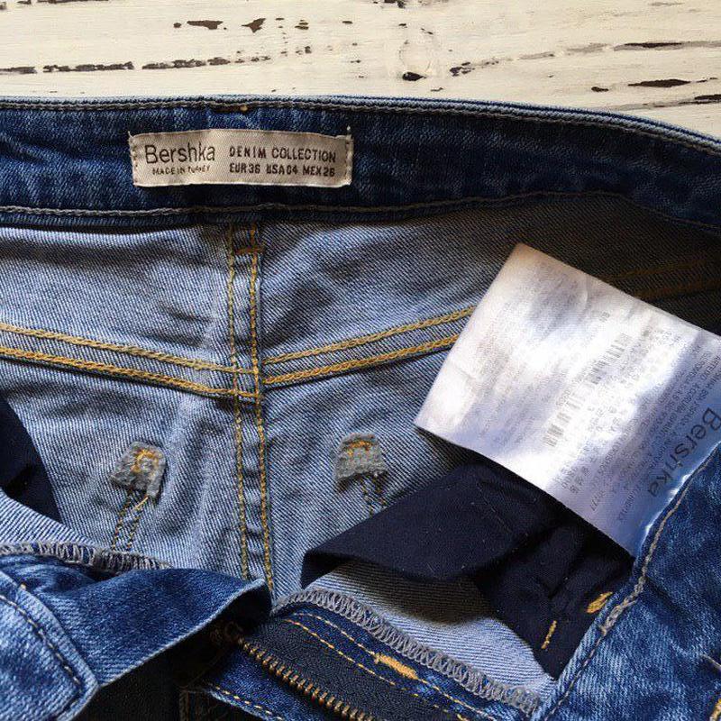 Рваные джинсы bershka - Фото 2