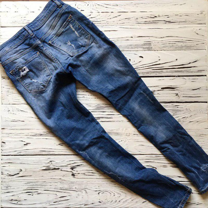 Рваные джинсы bershka - Фото 3