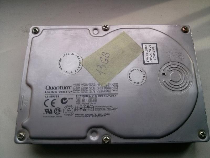 HDD 20Gb 13Gb IDE