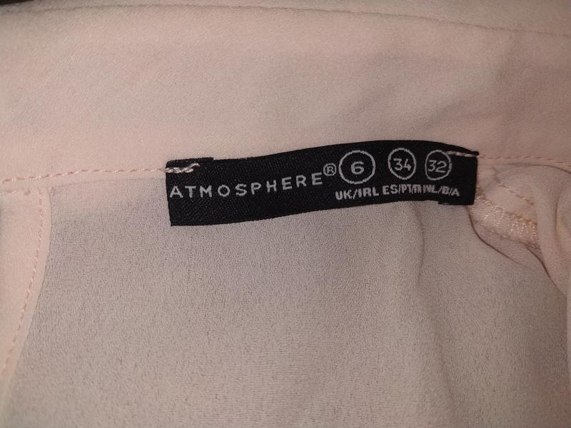 Нежнорозовая шифоновая блуза с воротником - Фото 3