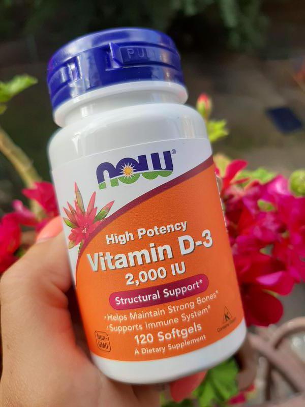 Now Foods Vitamin D 2000 IU, 120 шт, вітамін д, витамин д США