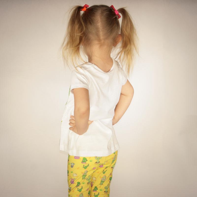 Белая футболка для девочки lc waikiki / лс вайкики с надписью ... - Фото 2