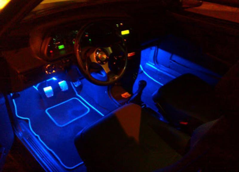Cветодиодная RGB лента для подсветки салона автомобиля с пультом - Фото 3