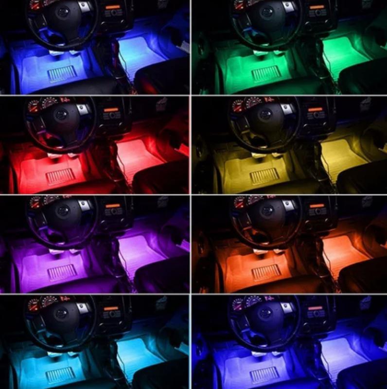 Cветодиодная RGB лента для подсветки салона автомобиля с пультом - Фото 9