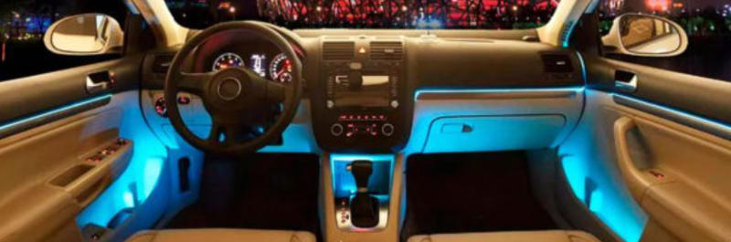 Cветодиодная RGB лента для подсветки салона автомобиля с пультом - Фото 8