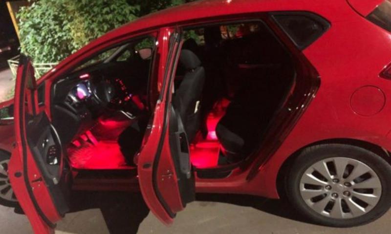Cветодиодная RGB лента для подсветки салона автомобиля с пультом - Фото 10