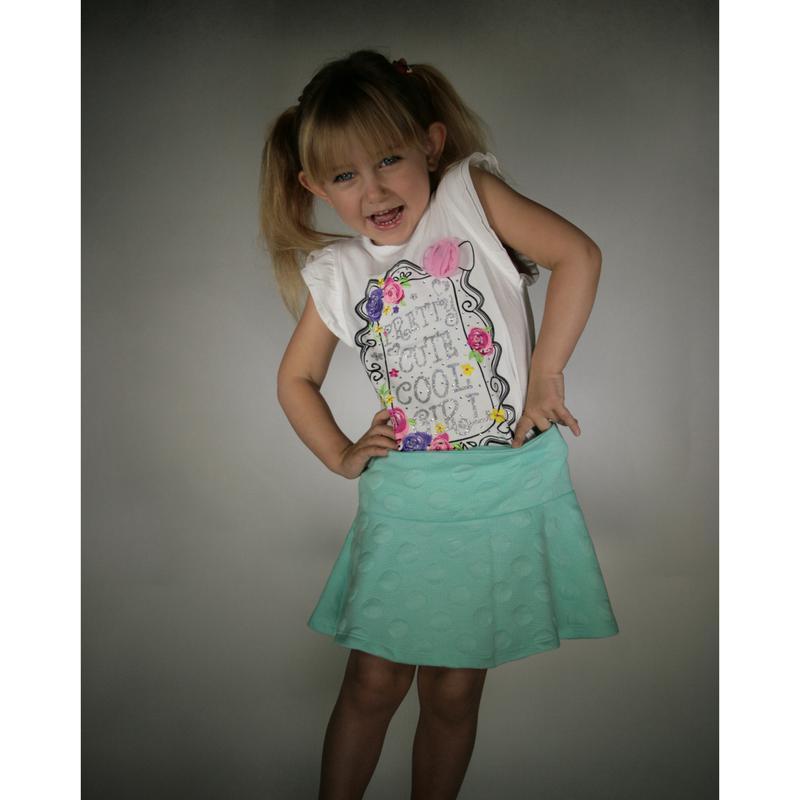 Мятная юбка для девочки lc waikiki / лс вайкики