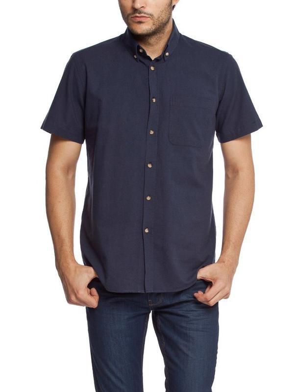 Мужская рубашка lc waikiki / лс вайкики с коротким рукавом син...
