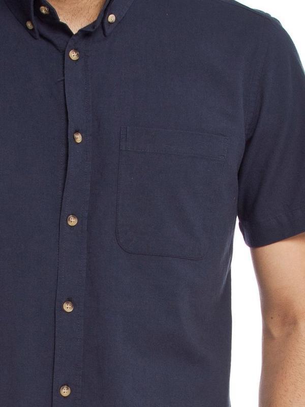 Мужская рубашка lc waikiki / лс вайкики с коротким рукавом син... - Фото 4