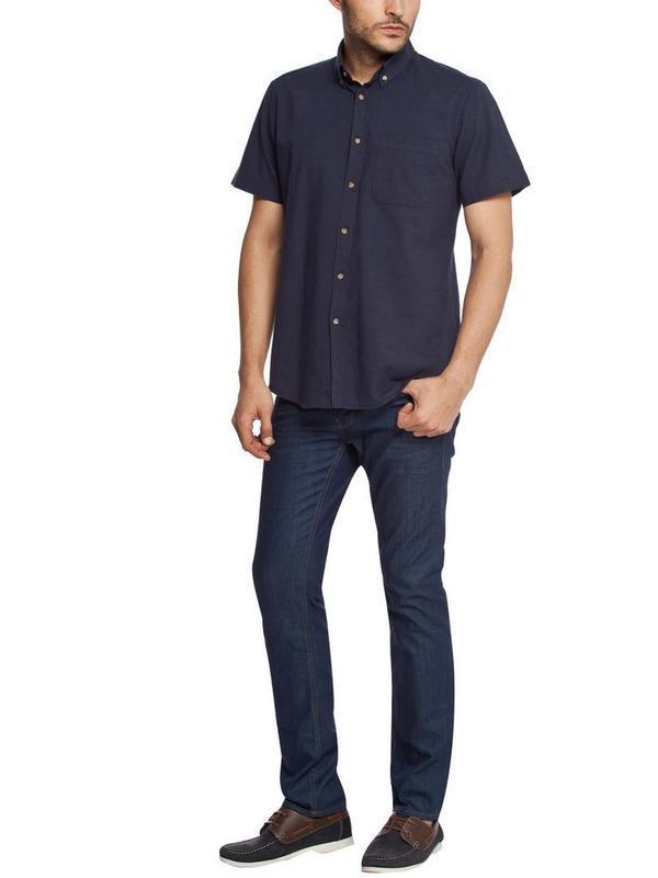 Мужская рубашка lc waikiki / лс вайкики с коротким рукавом син... - Фото 5