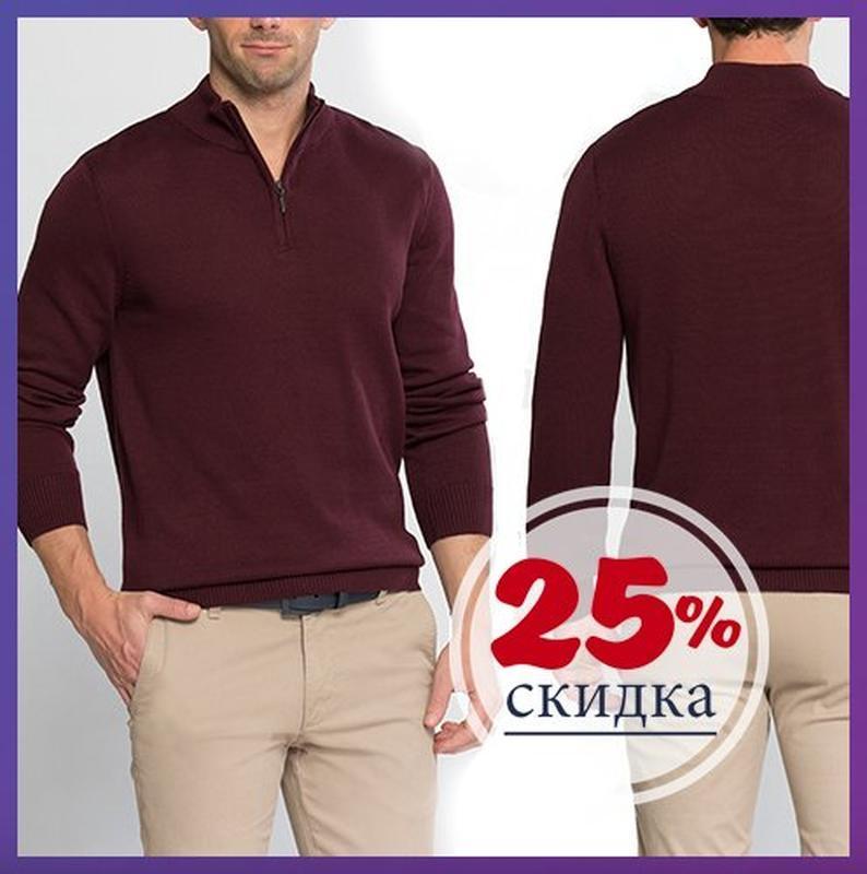 Бордовый мужской свитер lc waikiki / лс вайкики с воротником-с...